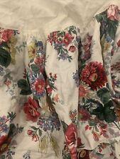 Vintage Ralph Lauren Floral Flowers King Bed Skirt Dust Ruffle