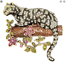 HEIDI DAUS Natural Instinct Ocelot Leopard Pin (Orig.$189.95 BEAUTIFUL CRITTER!!