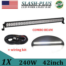 "42""inch 240W Philips LED Combo Light Offroad Jeep Truck Lamp 4WD Slim+Wiring Kit"