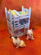 Calico Critters Triple Baby Bunk Beds + 2 Baby Rabbits + Accessories