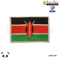 KENYA National Flag Embroidered Iron On Sew On Patch Badge For Clothes etc