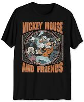 Hybrid Men's Disney Mickey Mouse & Friends Short-Sleeve T-Shirt, Black, Large L