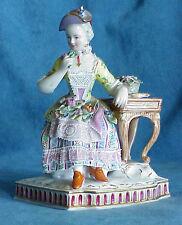 Antique 19th Cent Royal Vienna Dresden Smell Senses Lady Perfume Bottle Figure