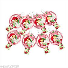 STRAWBERRY SHORTCAKE DOLLS BLOWOUTS (8) ~ Birthday Party Supplies Favors Stripes