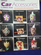 "NEEDLECRAFT PLASTIC CANVAS ""CAR ACCESSORIES""PATTERNS AIRFRESHNER AND MORE  CUTE"