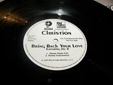 "Christion Bring Back Your Love / Pull It 12"" Single NM Roc-A-Fella DEF206-1 1997"