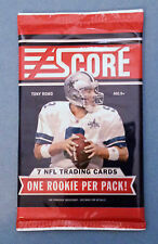 2011 Score Football Sports Card Pack - 7 Cards - Cam Newton or Colin Kaepernick?