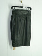 TIBOR size 5  25''''Black soft cow leather skirt