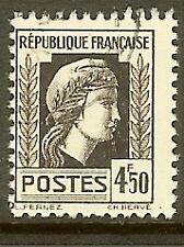 "FRANCE TIMBRE STAMP N°644 "" MARIANNE D'ALGER 4F50 "" OBLITERE TB"