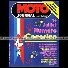 MOTO JOURNAL N°372-b MOTOBECANE JEAN BIDALOT HONDA-MARTIN CB 750 ROUGERIE '78