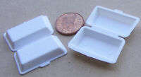 1:12 Scale 2 Large Plastic Take Away Boxes Dolls House Miniature Food Accessory