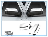 FOR 2015-2018 GMC Sierra / Chevrolet Silverado Chrome Door Mirror Cover Covers