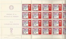 Paraguay. 1961. europa set complet draps. sg: 959/63. neuf sans charnière.