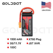 GOLDBAT 1500mAh 100C 11.1V 3S LiPo Battery XT60 Plug for RC Drone FPV Car Drone