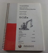 Catalogue des Pièces / Liste Détachées Neuson Pelle sur Chenilles 50Z 3, Stand