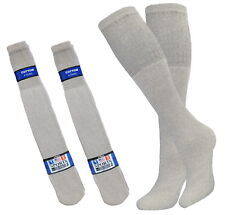 8 PK 25 INCH BIG AND TALL TUBE SOCKS COTTON SOLID GRAY HI CALF LONG SOCKS