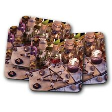 4 Set - Wicca Occult Divination Witchcraft Coaster - Medicine Witch Gift #16131