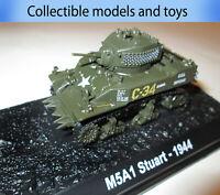 Tank model M5A1 Stewart -1944 USA (light tank) , casting 1:72 Tanks world