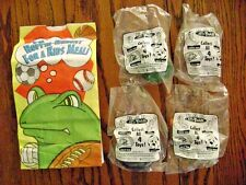 1998--BAD ATTI-TOADS (Complete SET of 4 Toys) by Carl's Jr. [NIP]