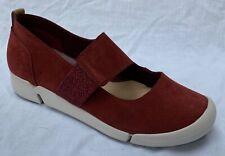 BNIB Clarks Ladies Tri Ava Rust Nubuck Leather Trigenic Mary Jane Shoes