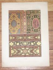 RENAISSANCE Reliures Marqueteries Venise RACINET LITHOGRAPHIE Art Decoratif 1870