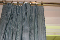 Vintage Mid Century Custom Pleated Lined Drapes /Kelly Wearstler Style