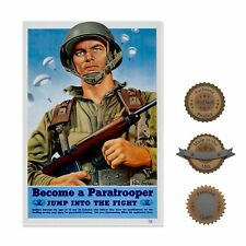 """13""""×19"""" Historic Poster, Reproduction: Paratrooper Vintage Military Skydiving"""