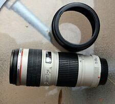 Objectif Canon 70 - 200 mm série L f4 non stabilisé