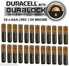 24 X Duracell AAA Alkaline LR03 1.5V Batteries MN2400 Duralock Duracel Battery