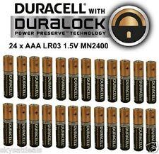 24 X DURACELL AAA ALCALINE lr03 1.5v, mn2400 DURALOCK DURACEL BATTERIA