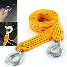3M 3T Tow Cable Towing Pull Rope Snatch Strap Heavy Duty Road Recovery Car