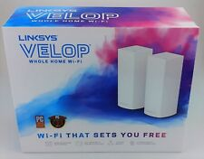 Linksys Velop WHW0302 2 Pack Tri-Band Mesh WiFi System White In Box Good Shape