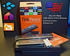 AMAZON FIRE STICK W/ ALEXA VOICE REMOTE - 2ND GEN, QUAD CORE, LATEST KODI v17.3!
