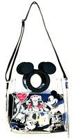 Disney Mickey Mouse Damen Handtasche Minnie Maus Schultertasche transparent