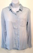 Mossimo Supply Co. denim blue button down shirt size S
