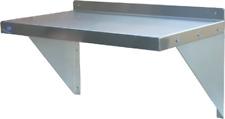 New 36x12 Stainless Steel Polished Wall Shelf Brackets Kitchen Storage Nsf 1191