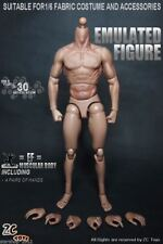 1/6 Model Toy Muscle Muscular Male Doll 12'' Body Fit Hot Toys Head Model Toys