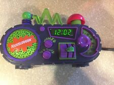 NICKELODEON TIME BLASTER RISE & SLIME DIGITAL ALARM CLOCK RADIO 1995 WORKS @NR!