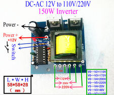 DC-AC Converter DC 12V to AC 110V 220V 150W Inverter Boost Board Transformer