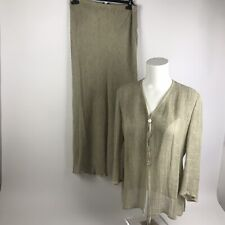 Beppe Bondi Italian Designer Ladies Beige Wedding Long Skirt Suit UK 10 | A34