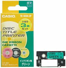 Casio disc title printer ink ribbon TR-18GN-3P green 3 pieces From Japan