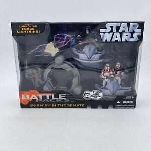STAR WARS HASBRO BATTLE PACKS SKIRMISH IN THE Senate Yoda Darth Sidius Trooper