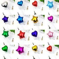 Foil Balloon Cake Topper Star Heart Happy Birthday Party Wedding Cupcake Decor