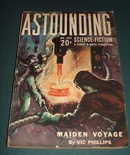 Astounding Science Fiction January 1939 Vintage Pulp Wellman, De Camp ,  Lorne