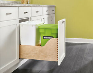 Rev-A-Shelf Bottom Mount 35 Qrt Soft-Close Pull-Out System w/Odor Reducing Bin