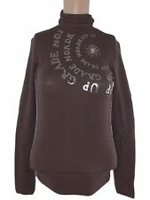 nordkapp maglia donna marrone lana stretch taglia xs extra small