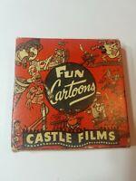 Big Bad Wolf Fun Cartoons 16mm Castle Films Vintage Headline Edition 760 ~1940s