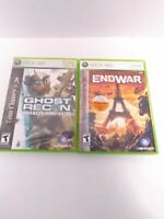 2 Tom Clancy's XBOX 360 Game Bundle - Endwar & Ghost Recond Advanced Fighter