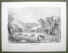 AFRICA Nigeria Scenery at Marghi Margi - 1858 Engraving Print