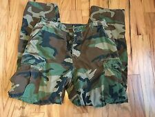Mens Military Issued Army Camo Outdoor Woodland Cargo Pants Medium Long 32x32 34
